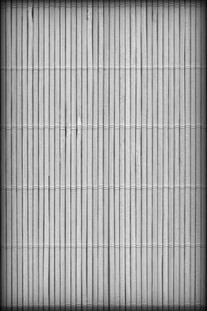 High Resolution Gray Bamboo Place Mat Rustic Slatted Interlaced Coarse Vignette Background Texture Reklamní fotografie