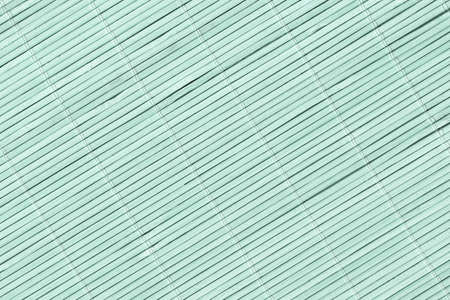 High Resolution Turquoise Bamboo Place Mat Rustic Slatted Interlaced Coarse Background Texture Reklamní fotografie