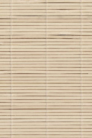 High Resolution Beige Bamboo Rustic Place Mat Slatted Interlaced Coarse Texture Detail
