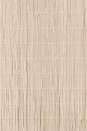High Resolution Beige Bamboo Rustic Place Mat Slatted Interlaced Coarse Texture Detail Archivio Fotografico - 139590392