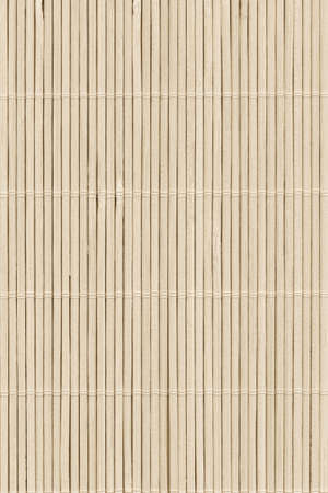 High Resolution Beige Bamboo Rustic Place Mat Slatted Interlaced Coarse Texture Detail Archivio Fotografico - 139590487
