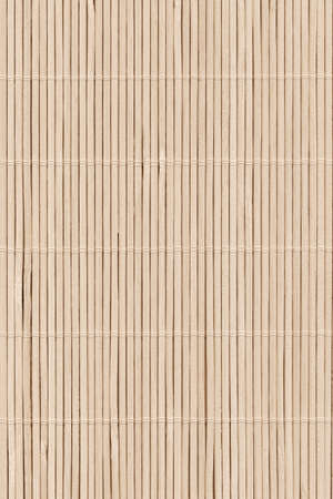 High Resolution Beige Bamboo Rustic Place Mat Slatted Interlaced Coarse Texture Detail Archivio Fotografico - 139590488