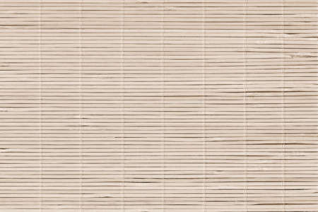 High Resolution Beige Bamboo Rustic Place Mat Slatted Interlaced Coarse Texture Detail Archivio Fotografico - 139590489