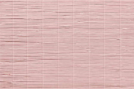 High Resolution Bleached Pale Pink Bamboo Rustic Place Mat Slatted Interlaced Coarse Grain Texture Detail Archivio Fotografico - 139590490
