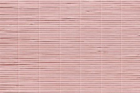 High Resolution Bleached Pale Pink Bamboo Rustic Place Mat Slatted Interlaced Coarse Grain Texture Detail Archivio Fotografico - 139590491