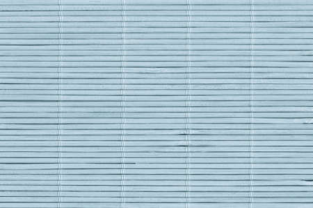 High Resolution Bleached Pale Blue Bamboo Rustic Place Mat Slatted Interlaced Coarse Grain Texture Detail Archivio Fotografico - 139590492