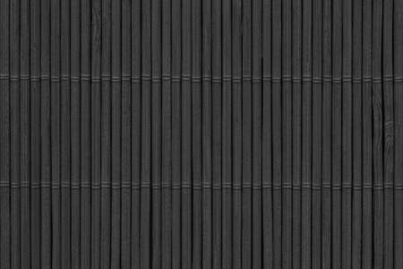 High Resolution Black Bamboo Rustic Place Mat Slatted Interlaced Coarse Texture Detail Archivio Fotografico - 139590496