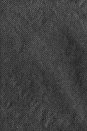 Black Striped Kraft Paper Envelope Grunge Crumpled Surface Texture Detail
