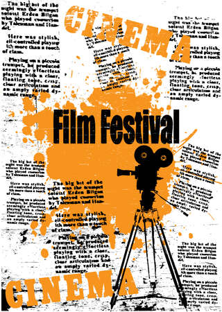 film set: camera and film festival
