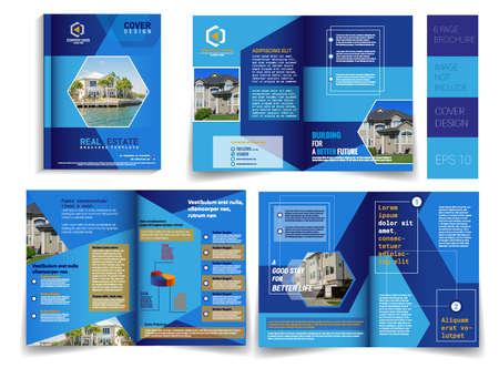 Plantilla de folleto moderno de 6 páginas con cubierta