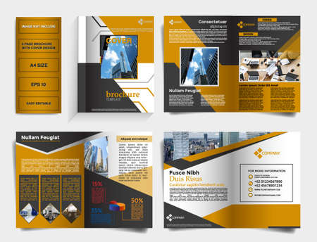 corrporate brochure template with cover design