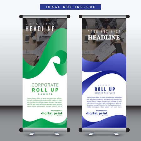 corporate roll up banner design.vertical banner design template