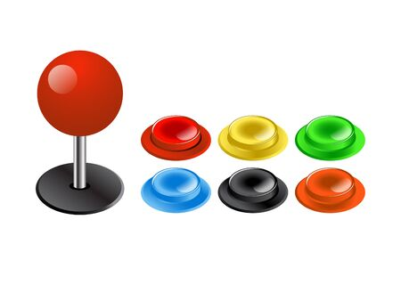 Arcade Button Illustration