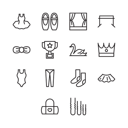 Set Of Ballet Icon Vector
