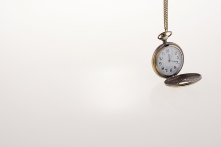 unknown age: Isolated retro styled pocket watch on white background