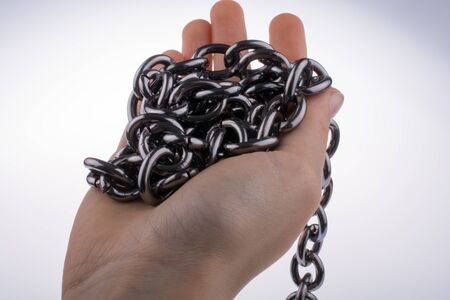 handful: Handful chain on white background