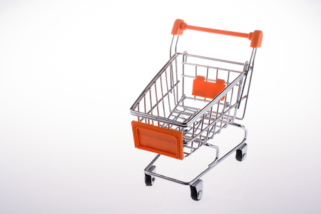 cart: shopping cart in white background Stock Photo