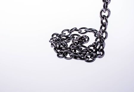 linkage: metal chain on white background