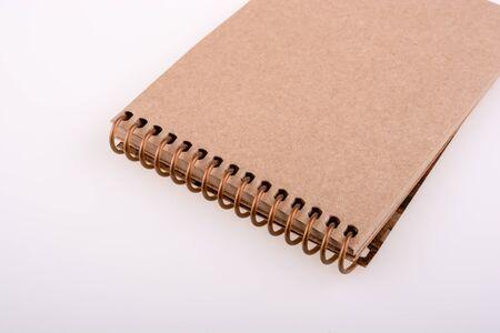 spiral notebook: Spiral notebook on a white background