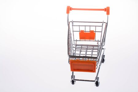 shopping cart: shopping cart in white background Stock Photo