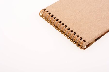 Spiral notebook on a white background
