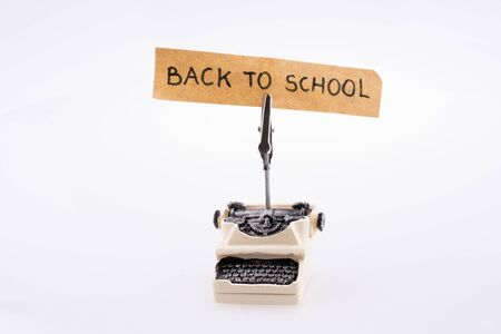 Type writer and back to school title