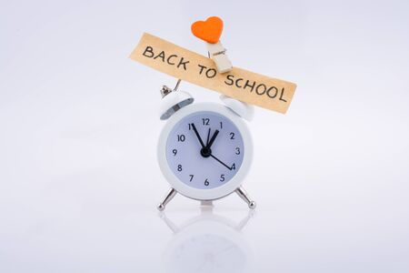 Heart shape with a title back to school on a white background Stock Photo
