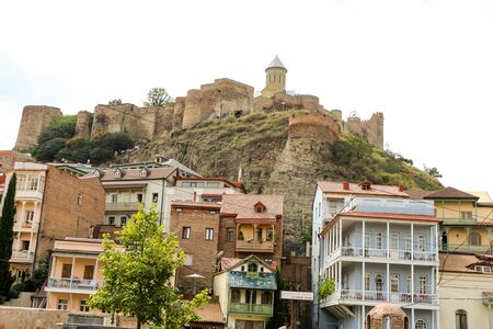historic district: Tbilisi Old Town, the Historic district of the capital of Georgia Editorial