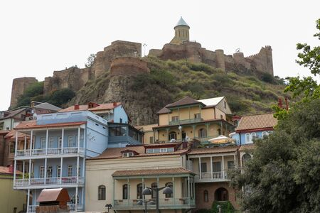 historic district: Tbilisi Old Town, the Historic district of the capital of Georgia Stock Photo