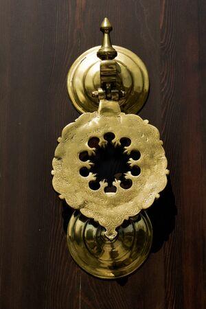 Old Handmade ottoman door knob made of metal Stock Photo