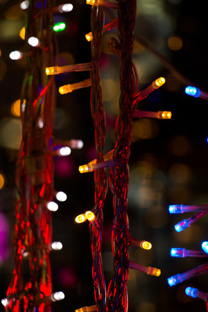 christmas lights and party lights of a certain type stock photo 71445119