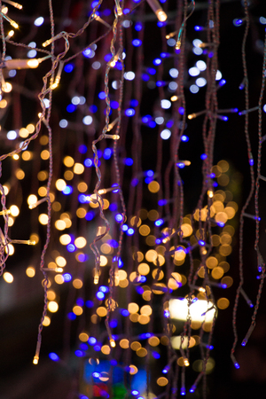 christmas lights and party lights of a certain type stock photo 71401596