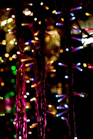 christmas lights and party lights of a certain type stock photo 71625743
