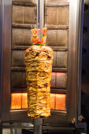 donner: Traditional Turkish Doner Kebab on pole