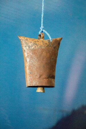 antique old style retro metal bell