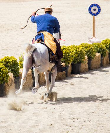 Ottoman archer riding and shooting on horseback