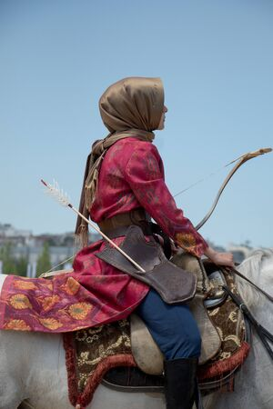 uomo a cavallo: Cavaliere ottomano e tiro a cavallo