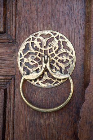 door handle: Old Handmade ottoman door knob made of metal Stock Photo
