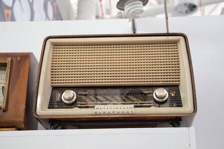 shortwave: Retro styled image of an old radio Stock Photo