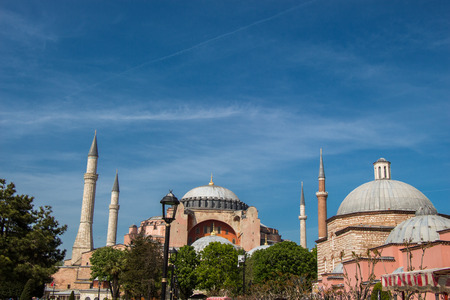 Hagia Sophia in Istanbul, the world famous monument of Byzantine architecture