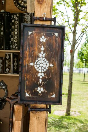 marqueteria: Ottoman art example of Mother of Pearl inlays from Istanbul