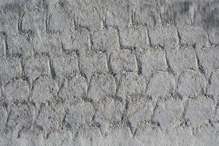 fireplace: Patterns on a freshly poured concrete surface Stock Photo