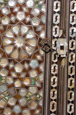 marqueteria: Ejemplo de arte otomano de Madre de Perla Foto de archivo