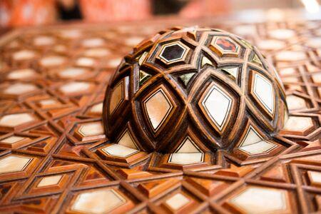 marqueteria: Ejemplo de arte otomano de incrustaciones de nácar Foto de archivo