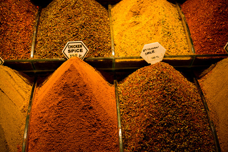 Various type of spices at the Spice Market