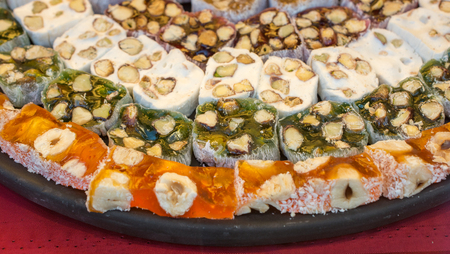 Turkish delight sweets made in Traditional style