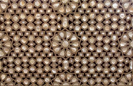 Exemple d'art ottoman des incrustations de nacre d'Istanbul