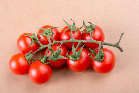 Bunch of red ripe tasty fresh naturel cherry tomatos Stock Photo