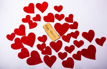 Valentine's day wording on torn paper as Love concept