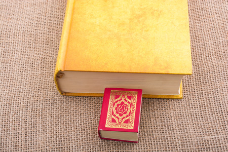 Islamic Holy Book Quran in mini size with another book